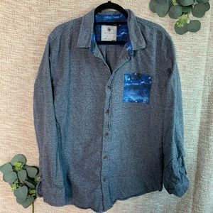 [On The Byas] Flannel Marled Button Down Shirt